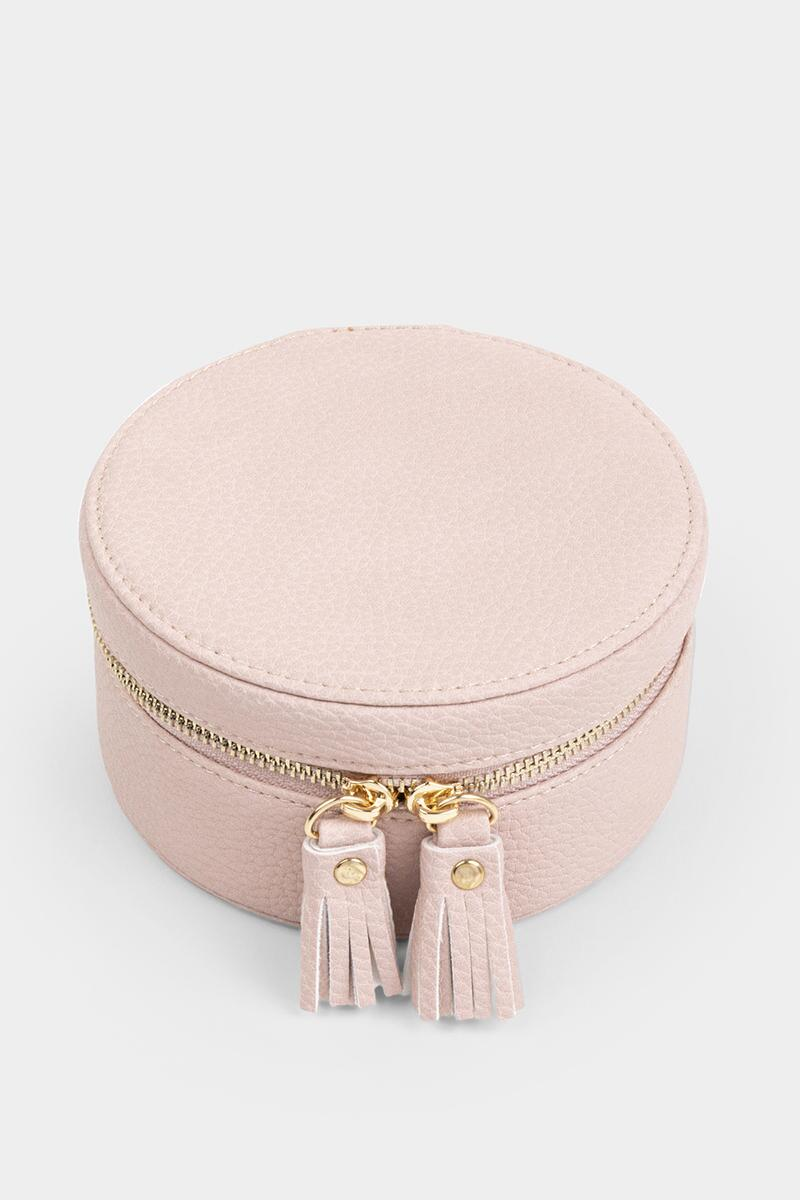 Polly Round Jewelry Box-  blush-cl