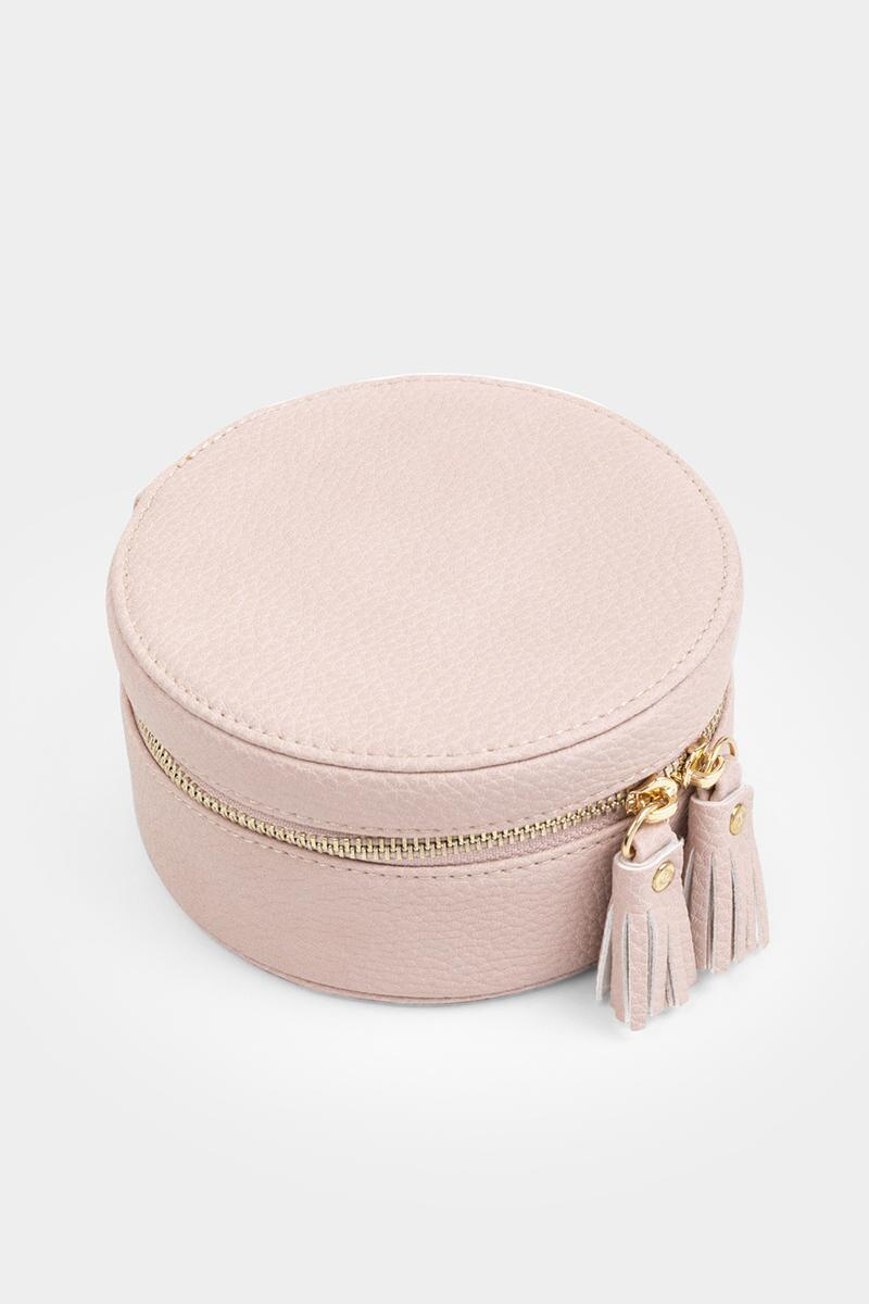 Polly Round Jewelry Box-  blush-cl3