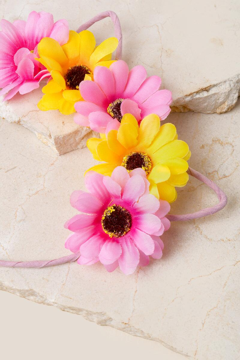 Daisy Cat Headband- Pink 2