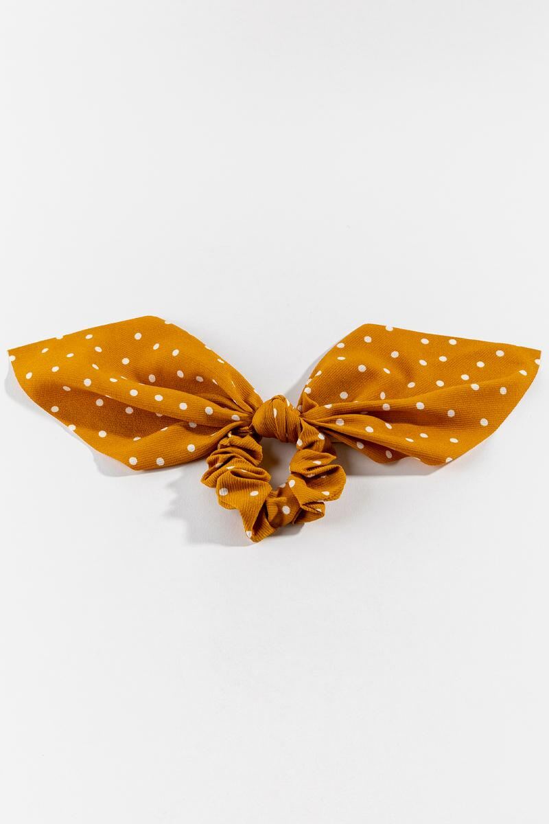 Jaslene Short Tail Pony Scarf in Mustard