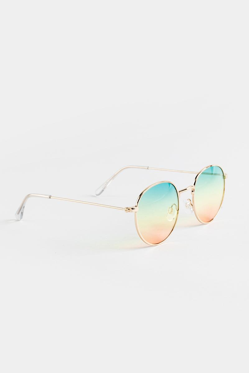 Eliza Ombre Lens Sunglasses in Gold