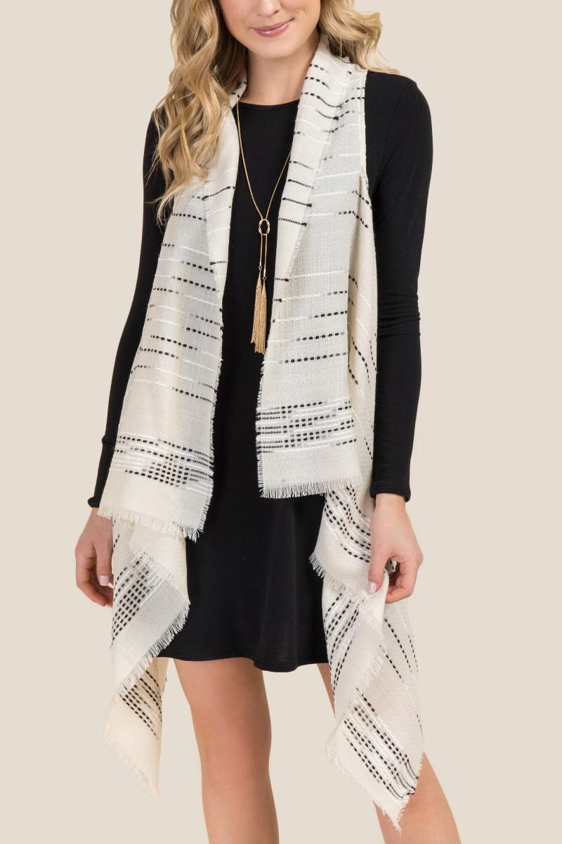 Harriet Striped Ruana Vest