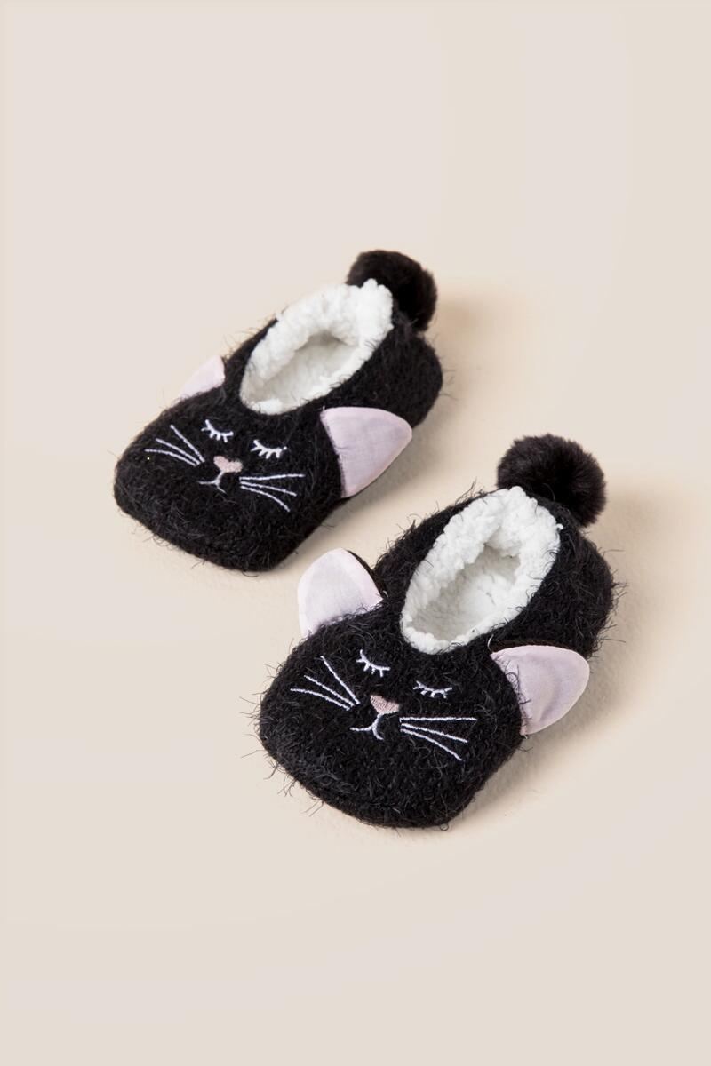 Kids Kitty Cozy Slippers