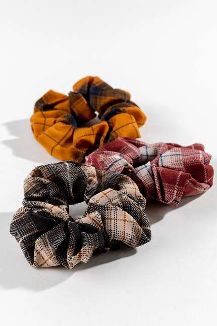 Abby Plaid Scrunchies