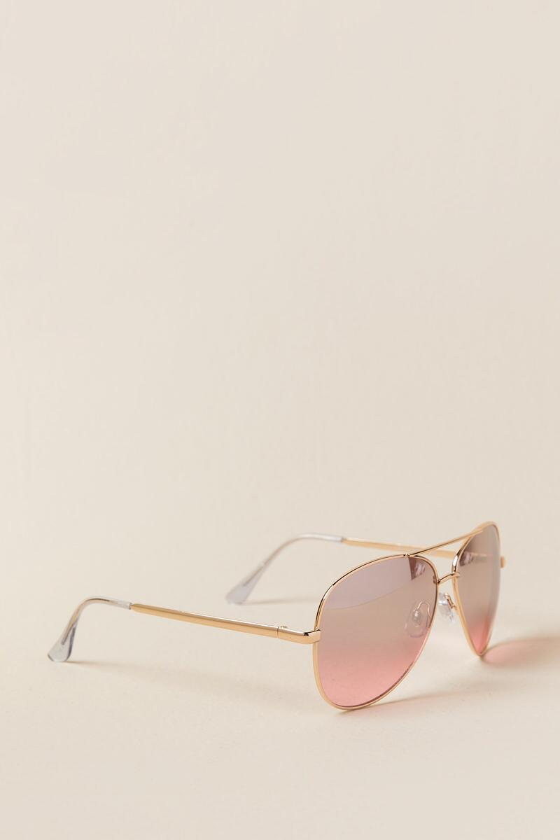 Pepper Aviator Sunglasses-Rose/Gold