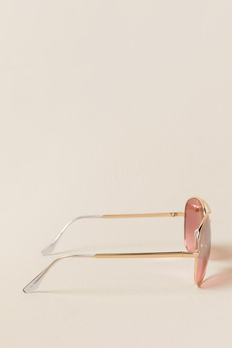 Pepper Aviator Sunglasses-Rose/Gold side