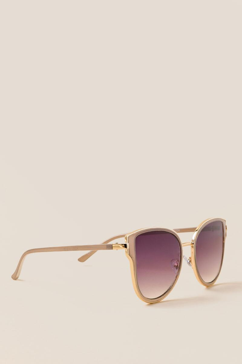 Allegro Cat Eye Sunglasses-  gold-cl