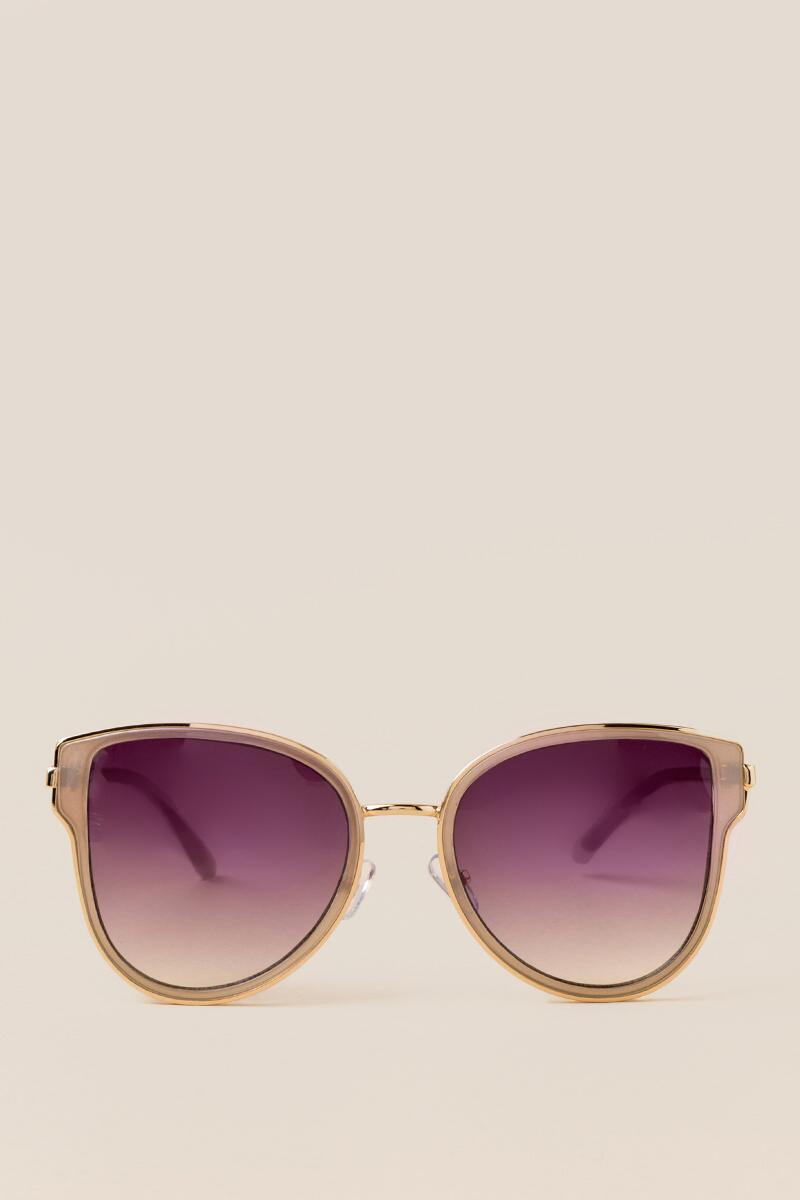 Allegro Cat Eye Sunglasses-  gold-clfront
