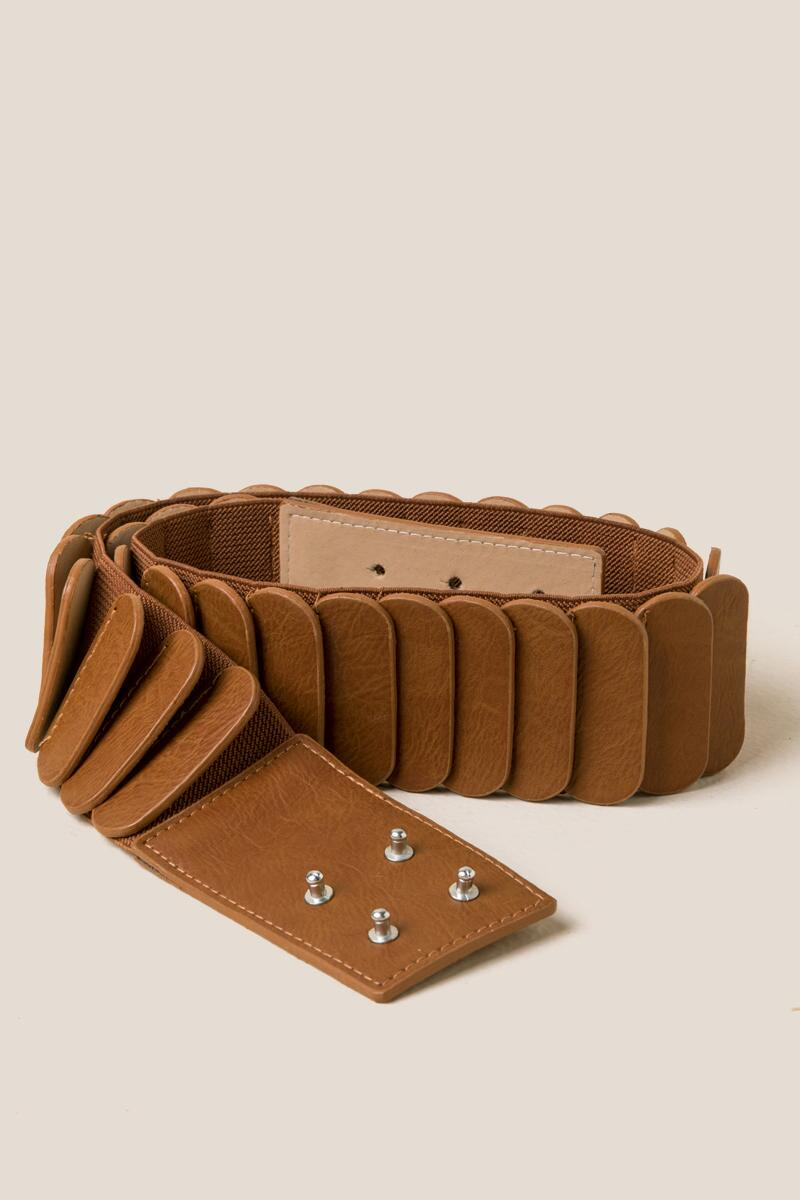 Everly Wide Stretch Belt-  cognc-cl