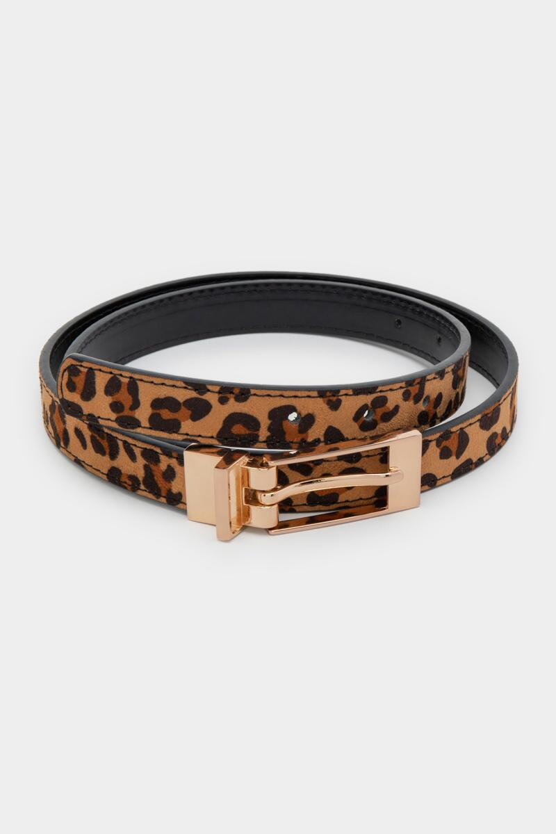 Joanne Reversible Leopard Belt-  leop-cl