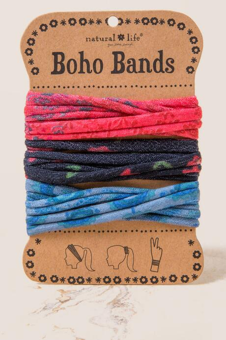 Boho Bands in Red Floral