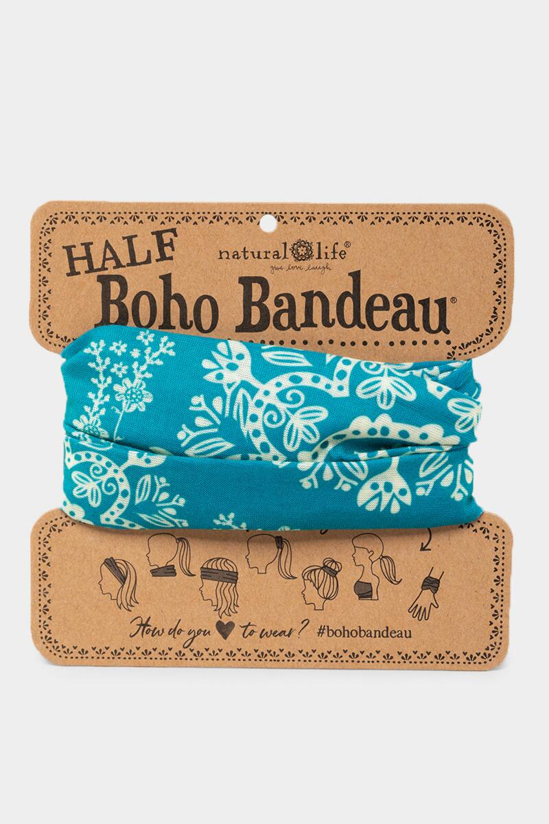 Half Boho Bandeau in Turquoise Cream-  turq-cl