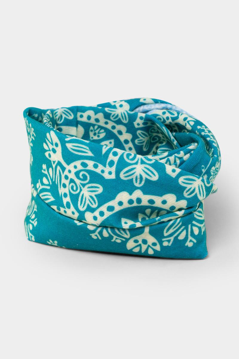 Half Boho Bandeau in Turquoise Cream-  turq-cl3