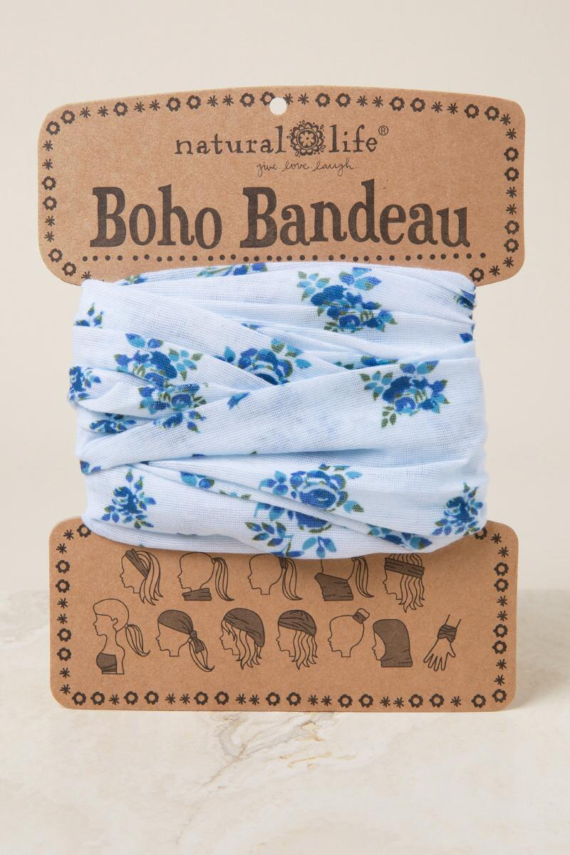 Boho Bandaeu in Blue Floral