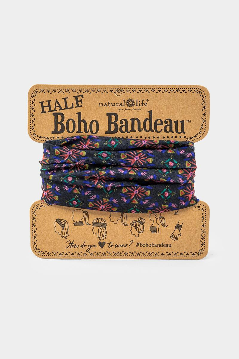 Half Boho Bandeau Band in Starburst-  blk-cl
