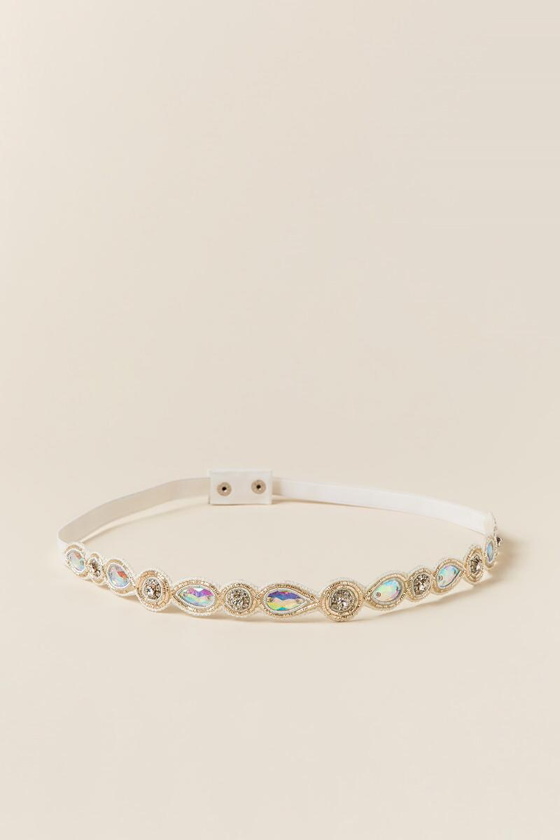 Stephanie Embellished Stretch Belt-  ivry-cl