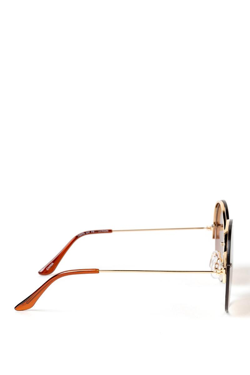 Clair Ombre Round Lens Sunglasses- Brown 3