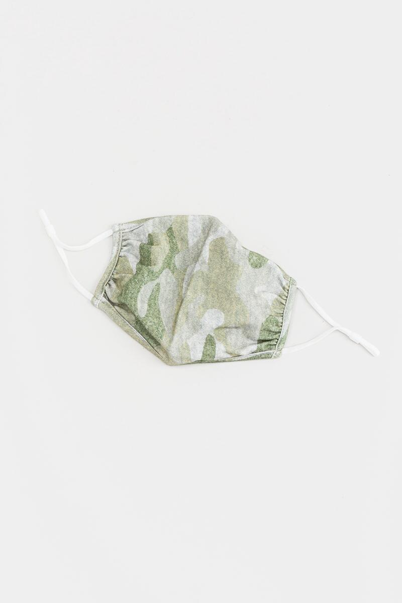 Tessa Camo Reusable Face Mask-Olive