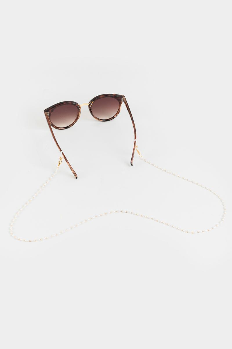 Denver Pearl Convertible Eyewear & Face Mask Chain- Pearl