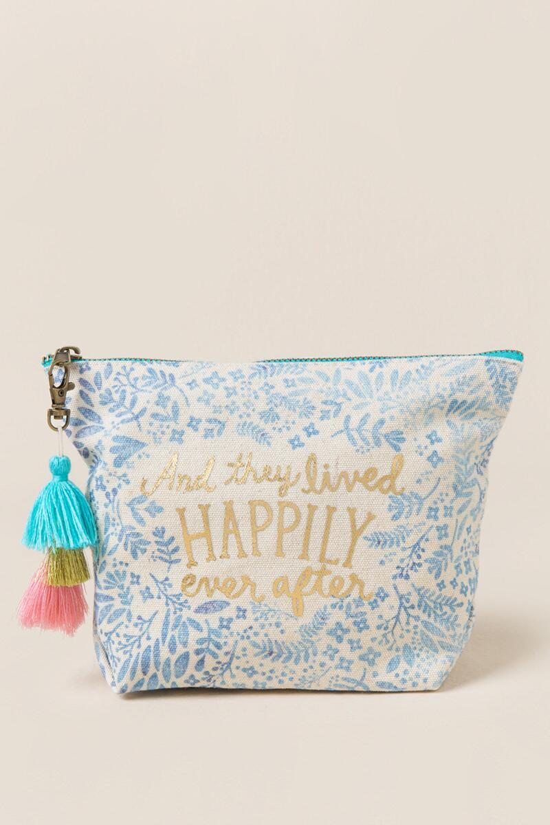Happily Ever After Cosmetic Bag-  ltblu-cl