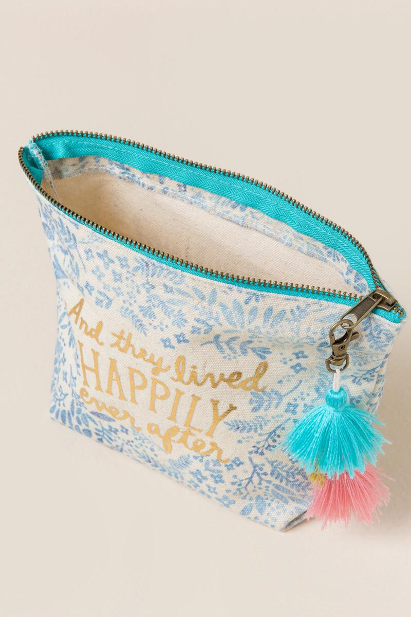 Happily Ever After Cosmetic Bag-  ltblu-clinside