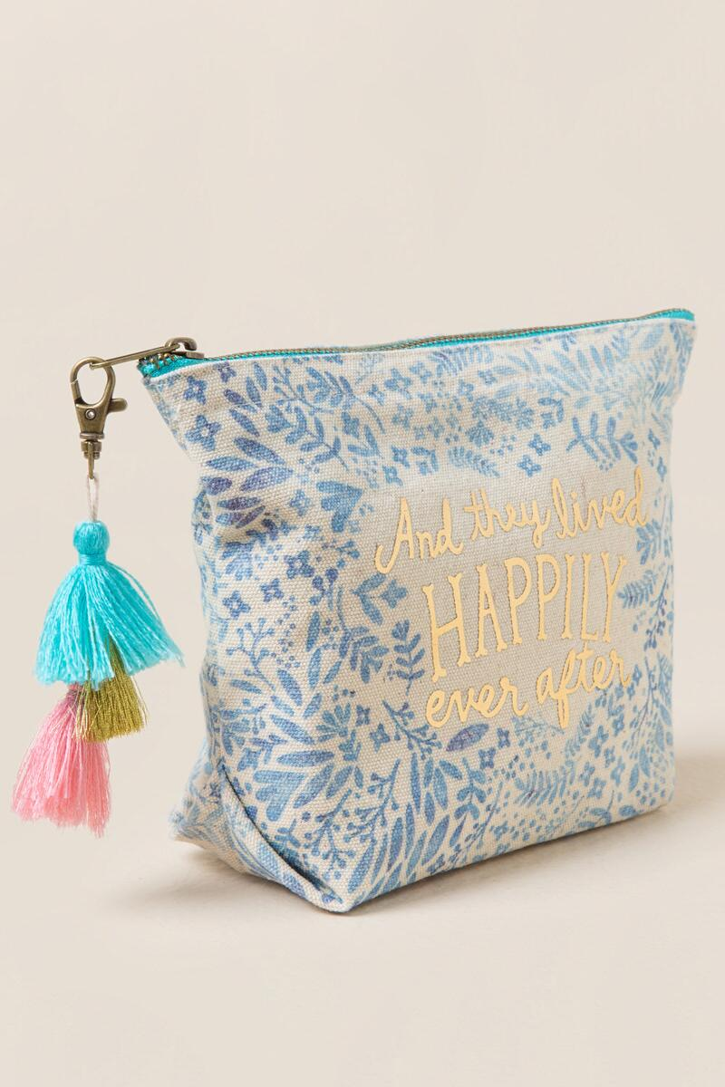 Happily Ever After Cosmetic Bag-  ltblu-clside