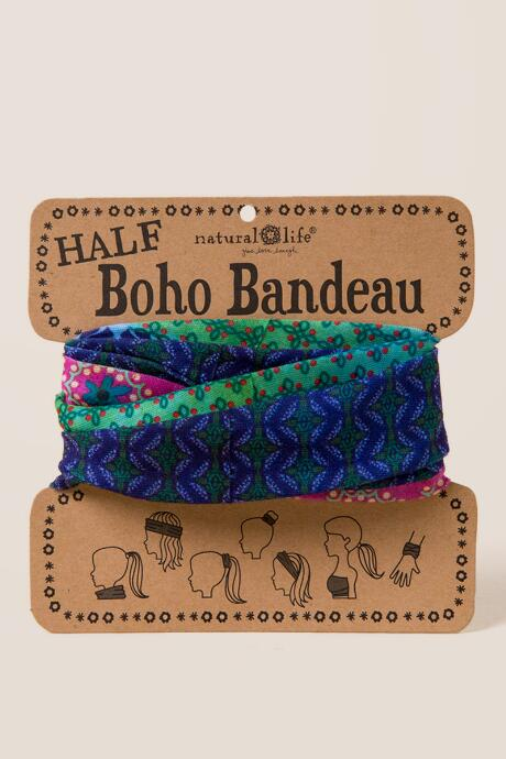 Boho Bandeau in Blue Multi Stripe