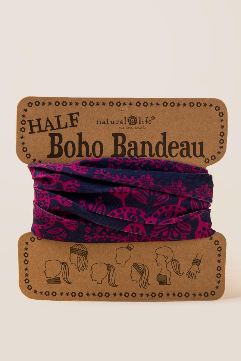 Boho Bandeau in Fuschia Navy-  navy-cl