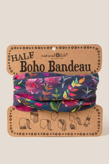 Boho Bandeau in Navy Multi