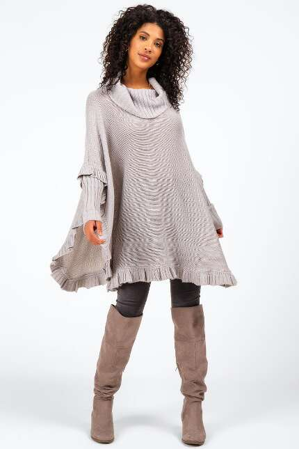 Kira Ruffled Round Bottom Poncho