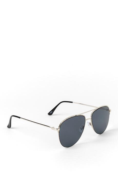 Mia Braided Metal Frame Aviator Sunglasses