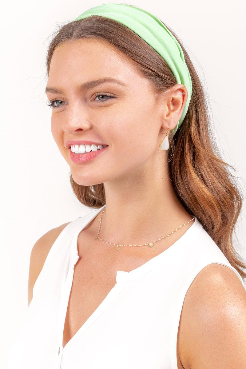 Gabriella Solid Headwrap-  ngreen-cl2