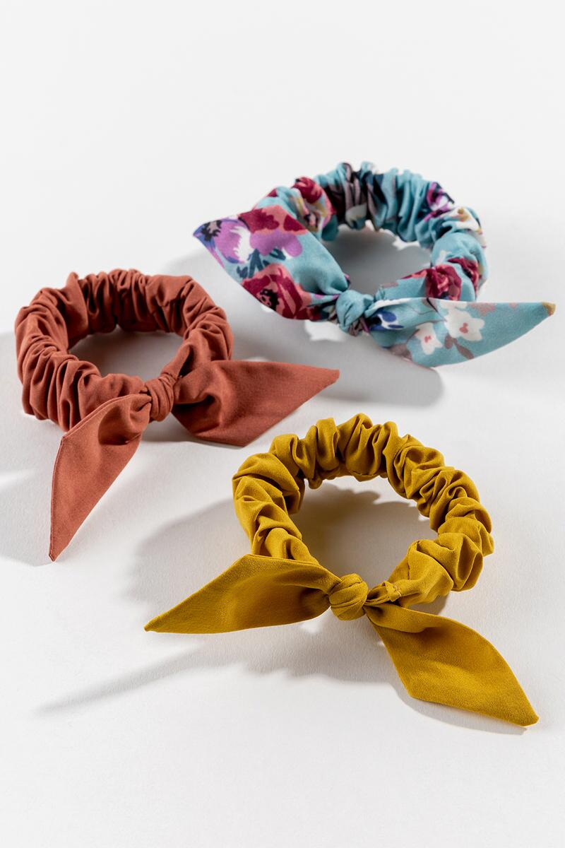 Sherry Bow Scrunchie Set- Marigold 2