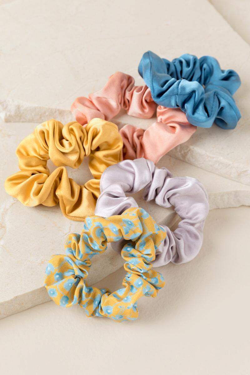 Shannon Satin Scrunchie Set
