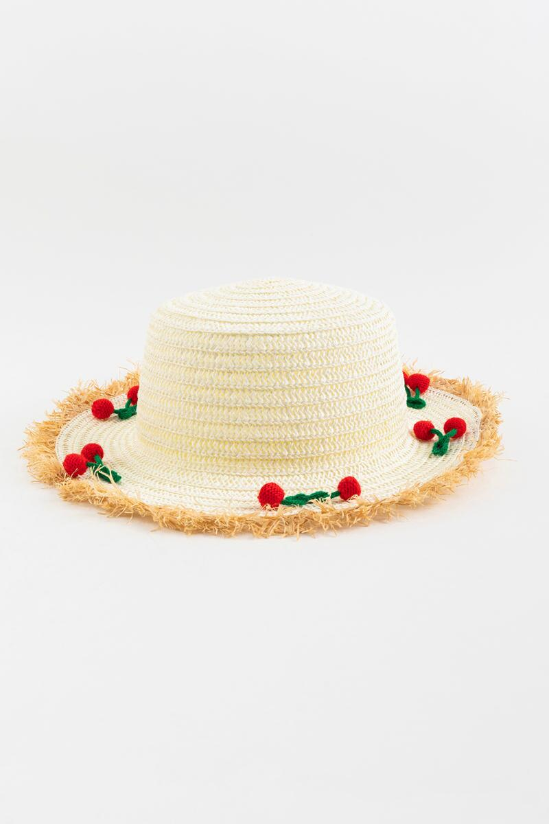 Kimora Cherry Pom Pom Panama Hat- Natural