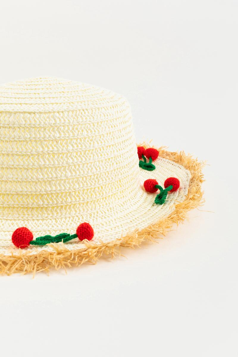 Kimora Cherry Pom Pom Panama Hat- Natural 3