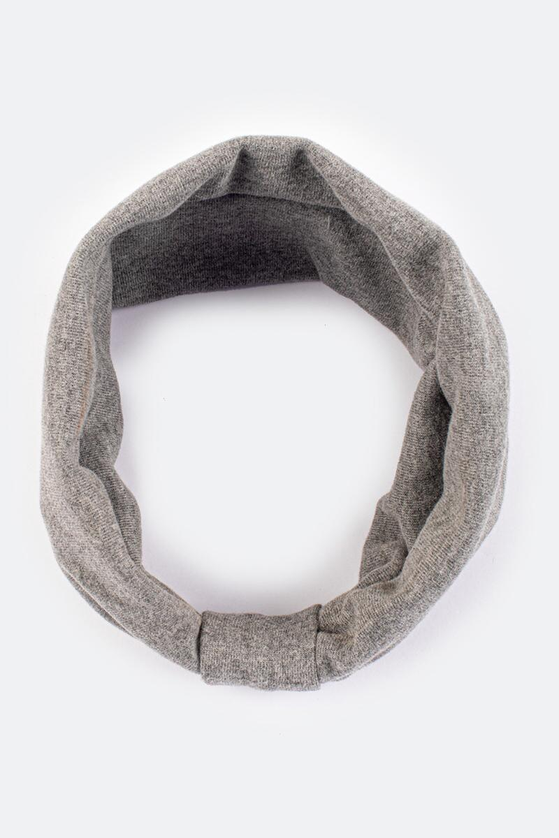 Jaimie Jersey Knit Headwrap- Gray