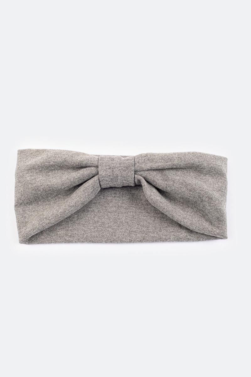 Jaimie Jersey Knit Headwrap- Gray 3