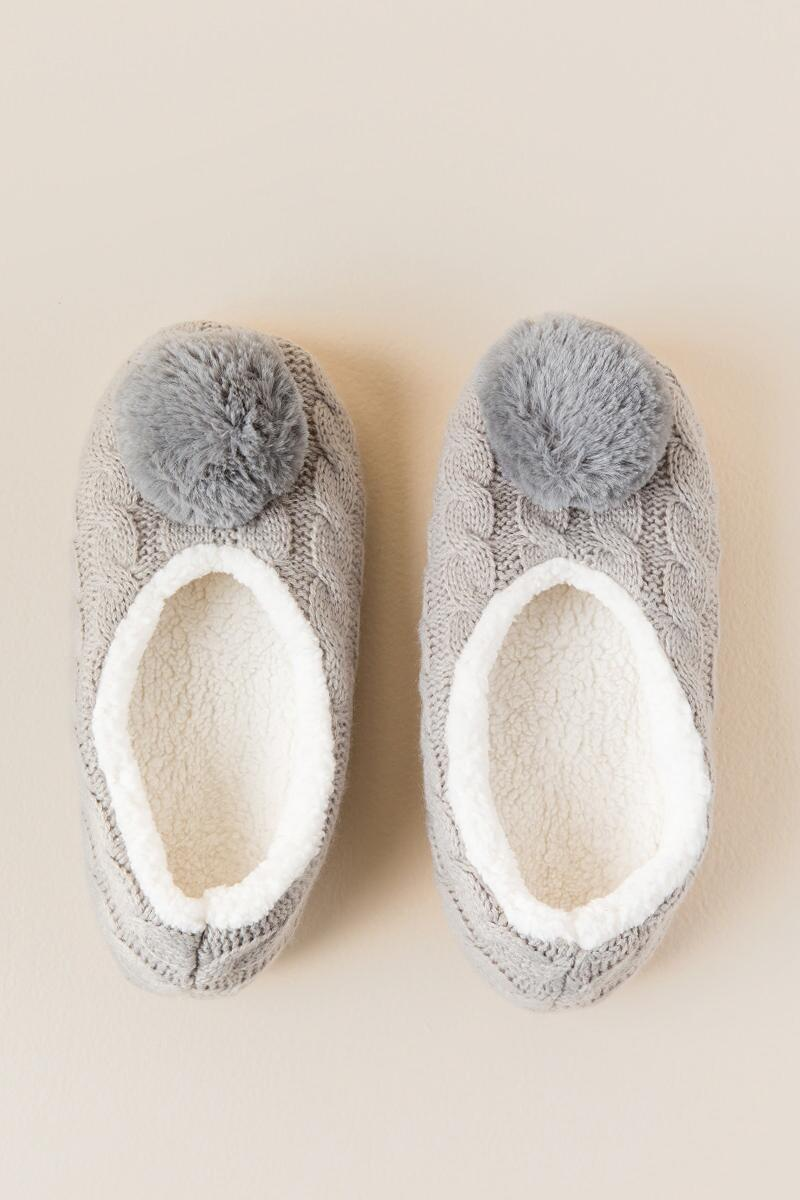 Cozy Warmer Pom Pom Slippers