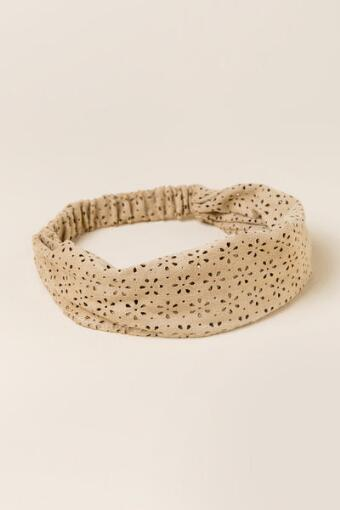 Floral Perforated Headband