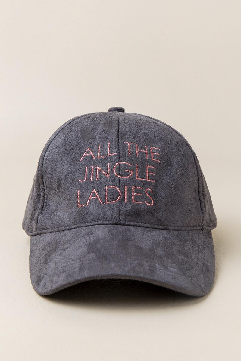 ALL THE JINGLE LADIES Cap-  gray-cl