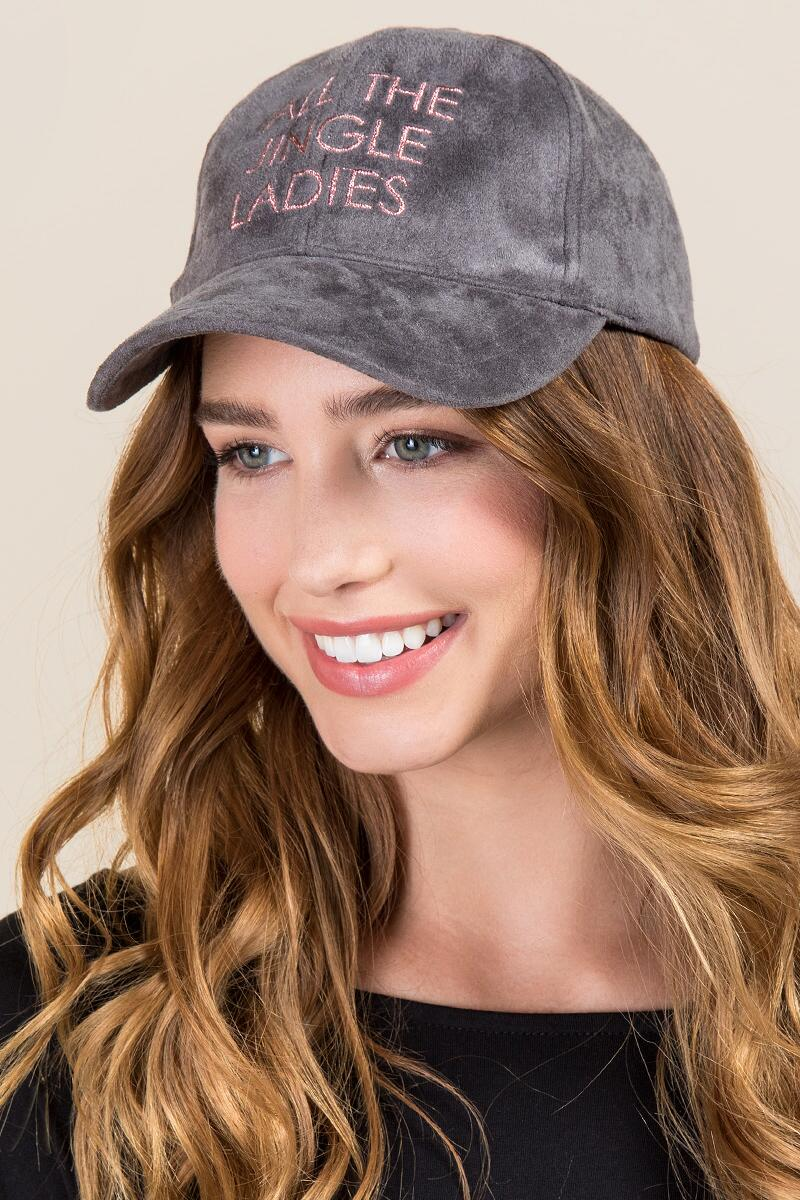 ALL THE JINGLE LADIES Cap-  gray-clmodel