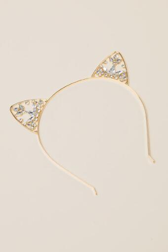 Kitty Diamond Ear Headband