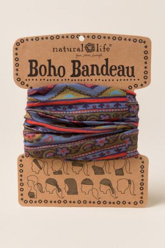 Boho Bandeau by Natural Life in Floral Zig Zag