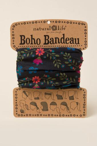 Boho Bandeau by Natural Life in Dark Floral Ivy