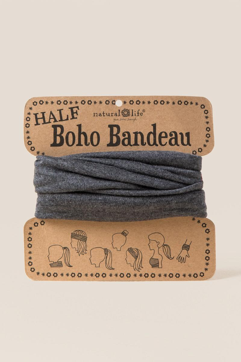 Half Boho Bandeau in Dark Gray