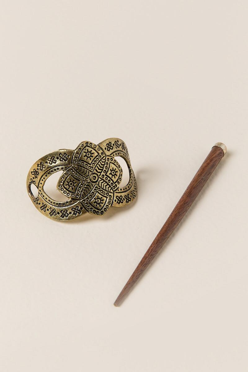 Yadira Decorative Hairpin-  gold-cl