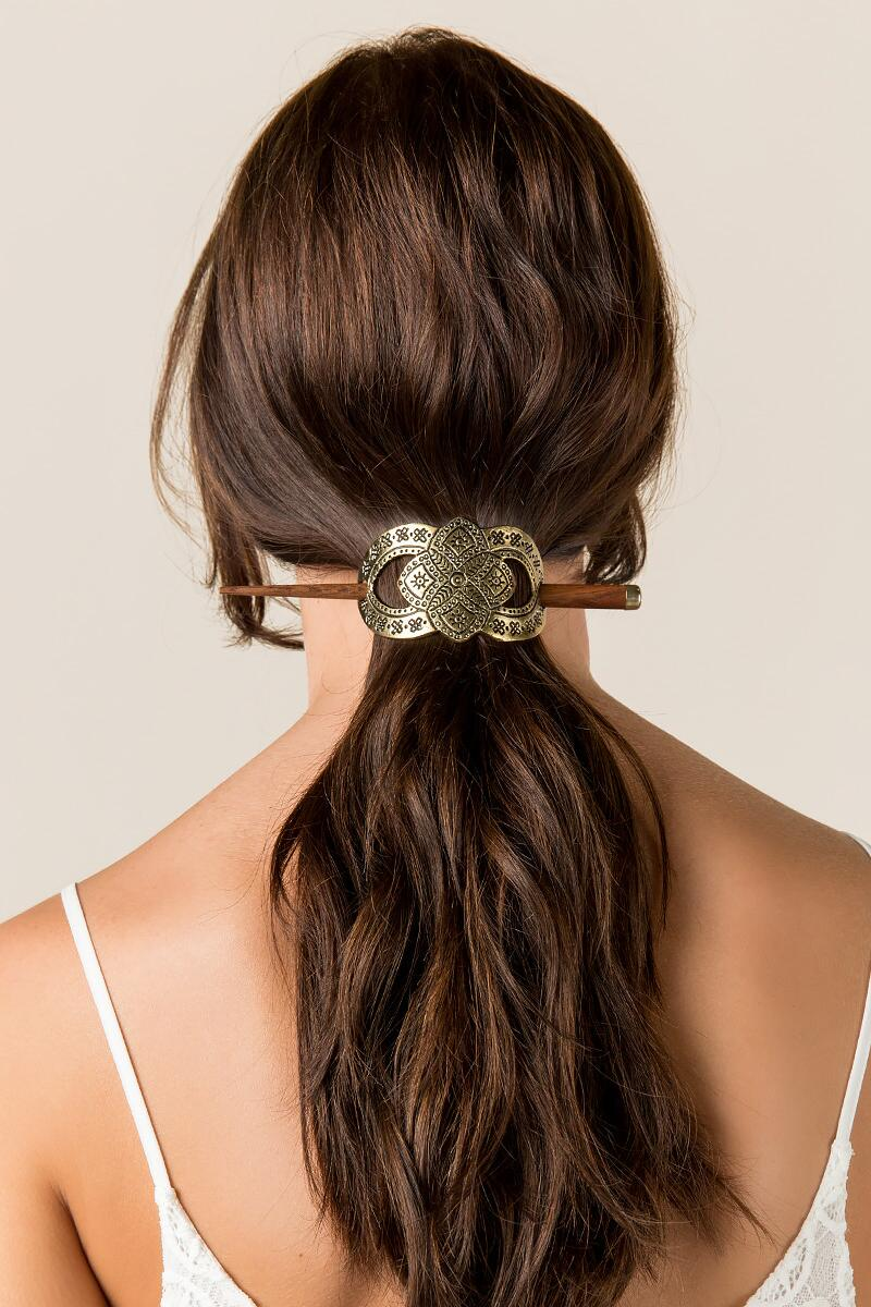 Yadira Decorative Hairpin-  gold-clmodel