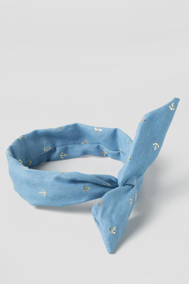 Chambray Anchor Headband