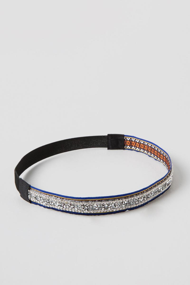 Salma Headband in Blue-  silv-cl
